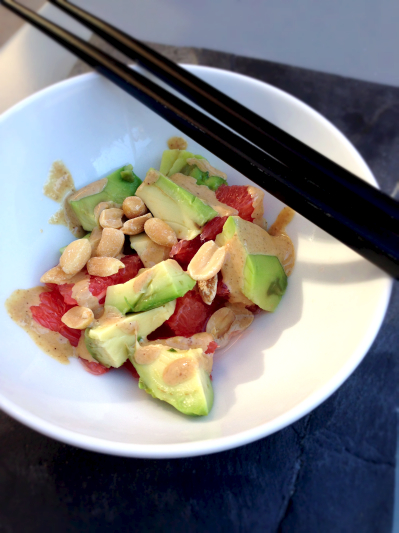 Salade avocat pamplemousse green cuisine for Ambiance cuisine avoine
