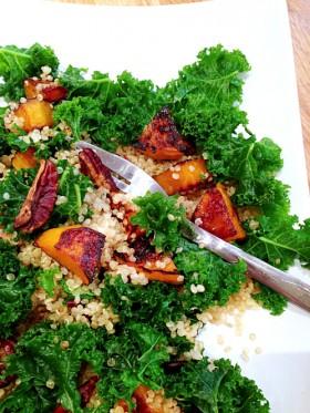 Kale, quinoa, butternut, noix de pécan