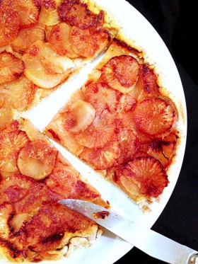Tatin navets miel orange