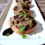Crostinis aux champignons et caramel de balsamique #vegan