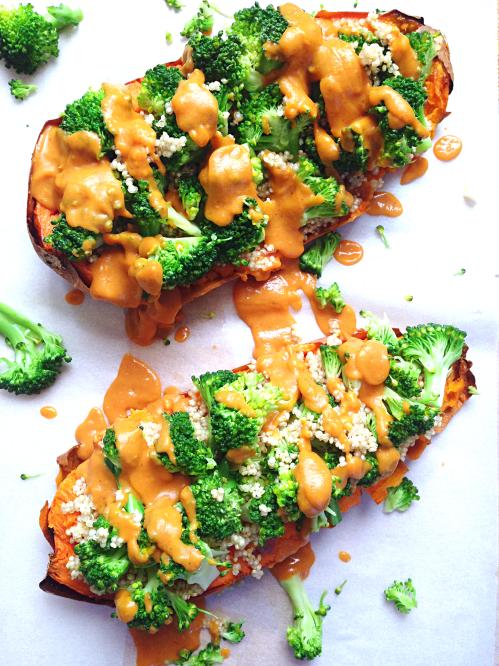 Patate douce x tr me quinoa brocolis sauce onctueuse vegan green cuisine - Bouture de patate douce ...
