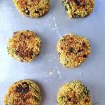 Galettes de quinoa aux légumes #vegan #sans gluten