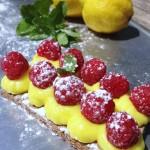 Tartelettes framboises citron noisette #vegan