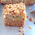 Crumble cake à la rhubarbe #vegan