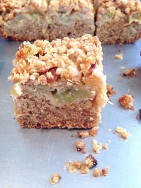 Crumble cake rhubarbe vegan végétalien