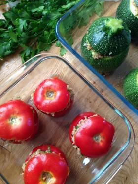 Petits farcis vegan végétalien