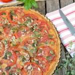 Quiche complète tomate tofu rosso #vegan