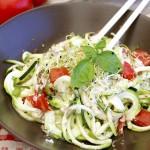 Spaghettis crus de courgettes sauce cajou #vegan #sans gluten