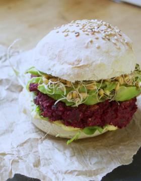 Betterave burger vegan végétalien