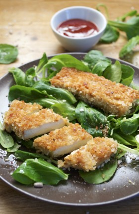 Nuggets de tofu Katsu et leur sauce vegan végétalien