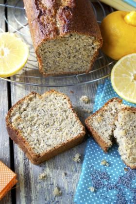Cake bergamote pavot vegan végétalien