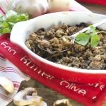 Crumble de champignons sarrasin-cajou #sansgluten #vegan