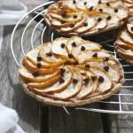 Tartelettes pommes  – marron – chocolat #sans gluten #vegan
