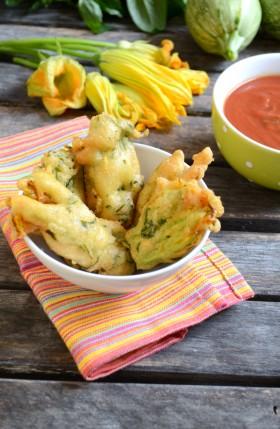 Beignets de fleurs de courgettes vegan végétalien sans gluten