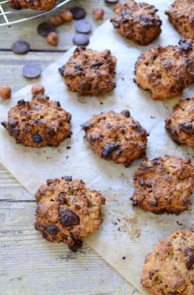Cookies choco-noisettes sains healthy vegan végétalien