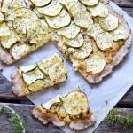 Tarte fromagère rustique aux courgettes #vegan