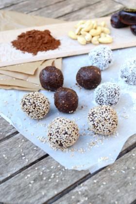 Energy balls 3 ingrédients sans gluten sans cuisson vegan