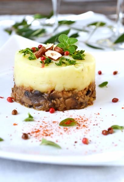 Christmas parmentier céleri champignons châtaignes vegan sans gluten