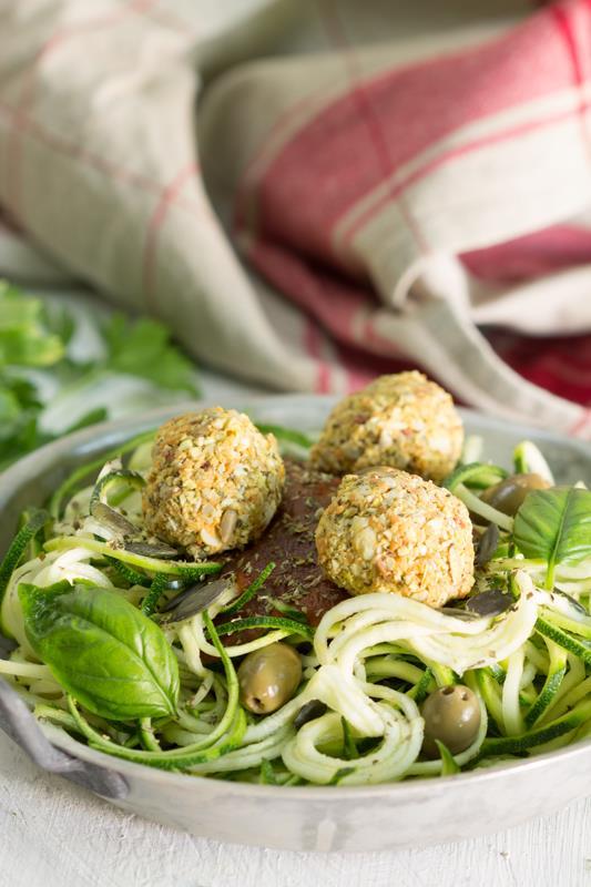 Boulettes presque crues pour spaghettis de légumes