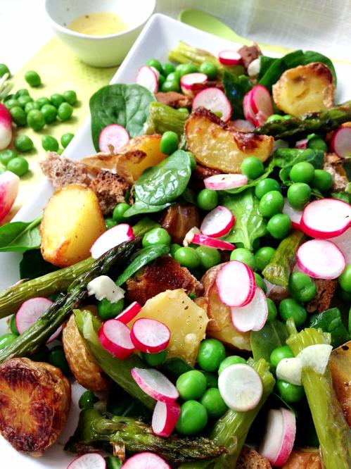 Assiette printanière vegan