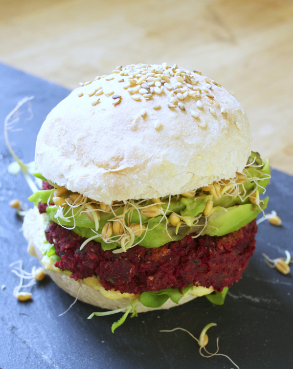 Betterave burger vegan végétalien