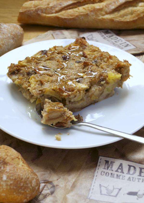 Bread pudding vegan végétalien