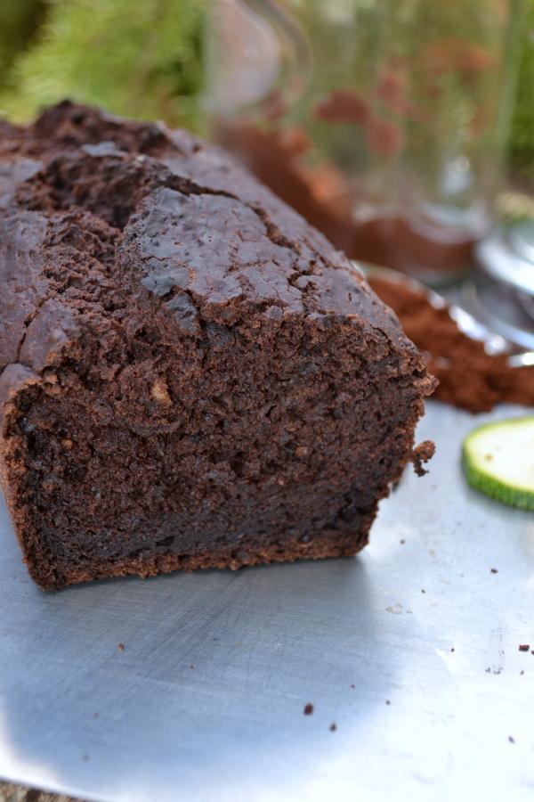Cake courgettes chocolat vegan végétalien