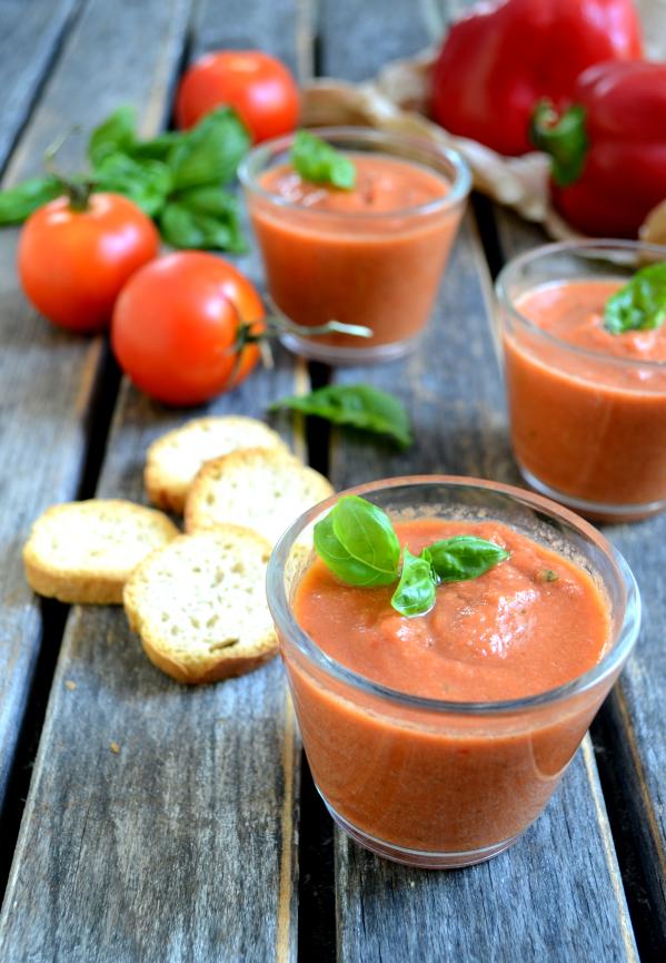 Gaspacho vegan végétalien