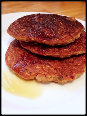 Pancakes banane flocons d'avoine