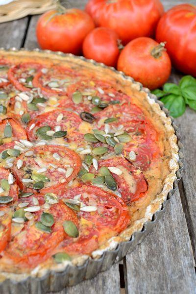 Quiche complète tomate tofu vegan végétalien