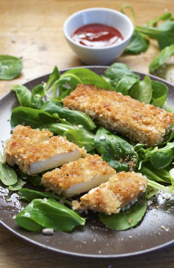 Nuggets de tofu katsu et sauce vegan végétalien
