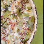 Tarte aux poireaux – Pâte brisée végétale