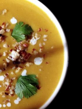 Velouté potiron coco cumin curry