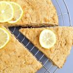 Gâteau-biscuit citron-miel-noisette