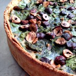 Quiche épinards butternut rôtie noisettes #vegan