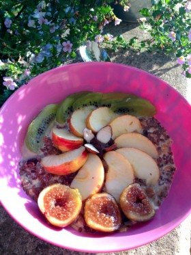 Porridge sans cuisson vegan végétalien