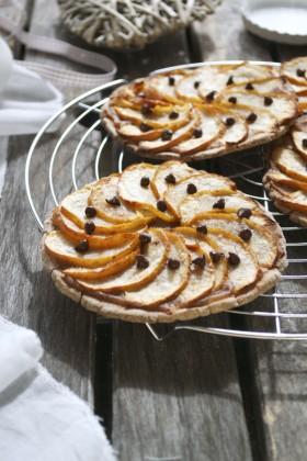 Tarelettes pommes marron chocolat vegan sans gluten
